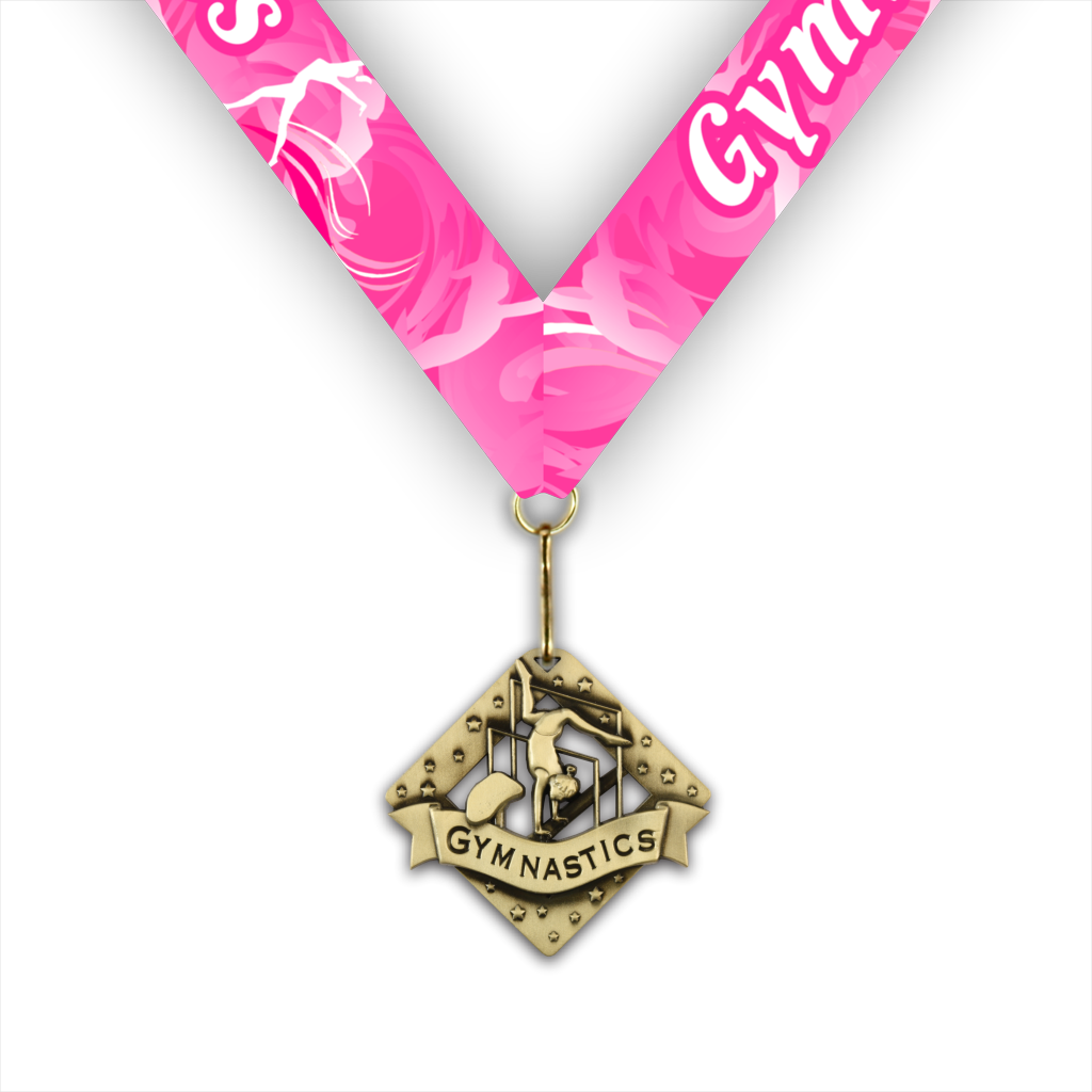 "2-3/8"" Female Gymnastics Diamond Series Medal [MED-520]"