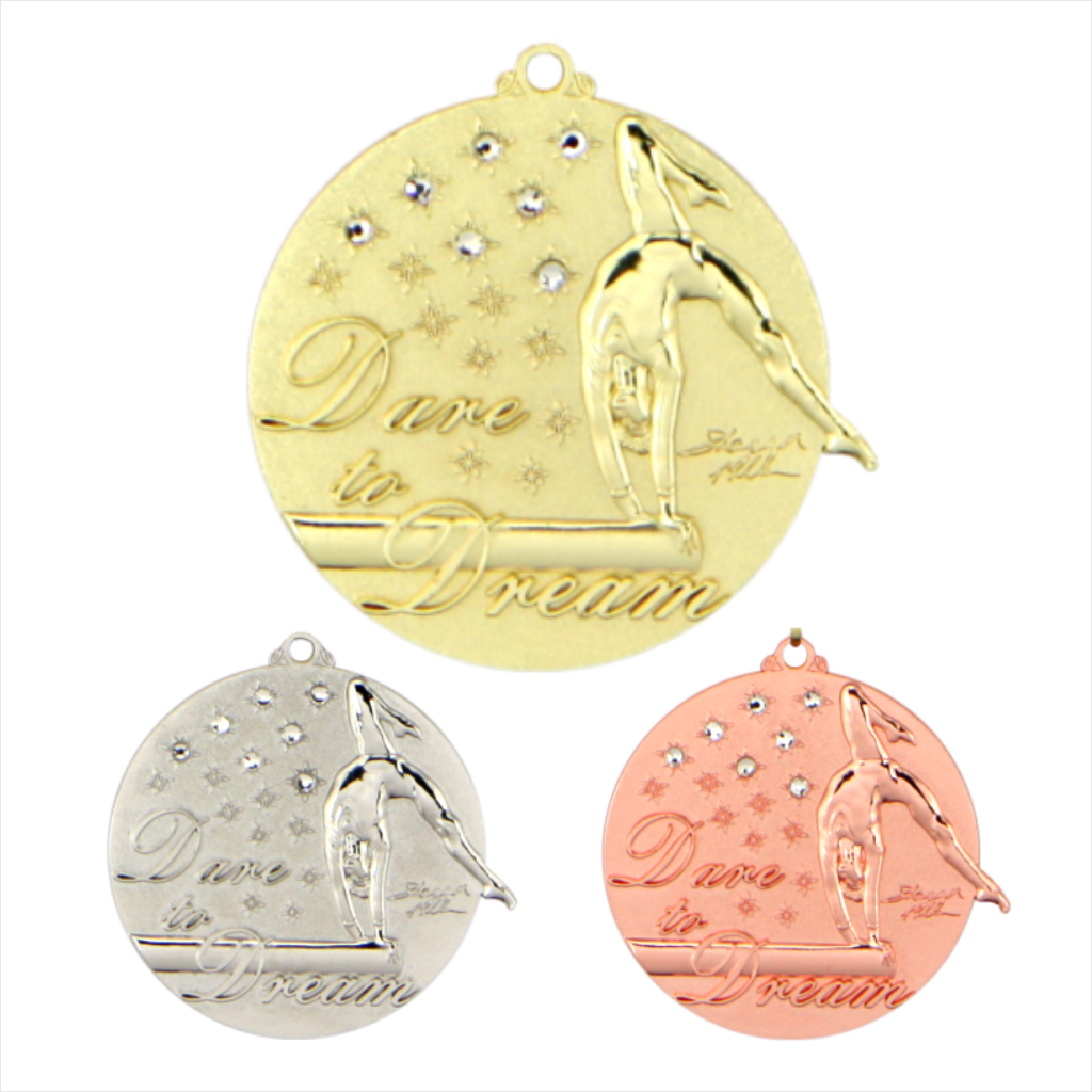 "2-1/4"" Shannon Miller Dare to Dream Medal [DD-715]"