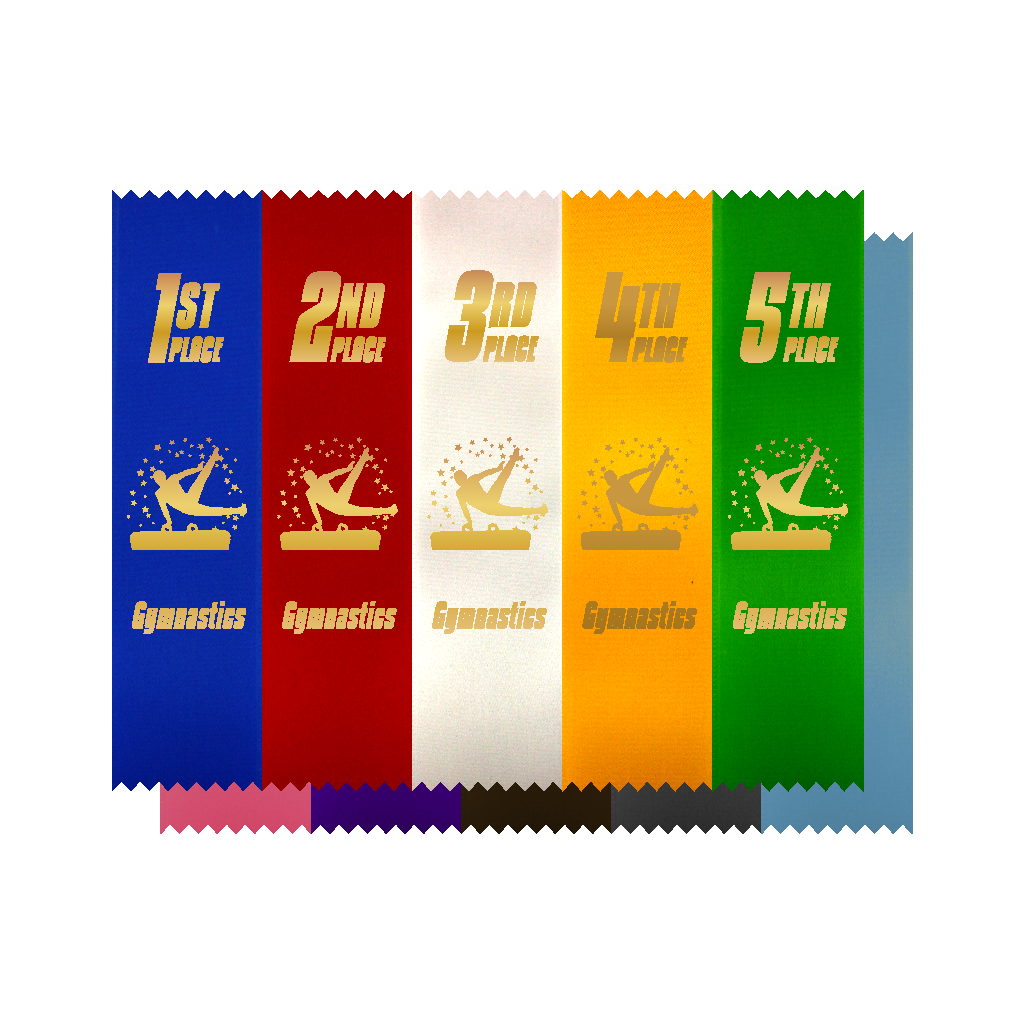 Male Gymnast Placement Ribbon [RIB-501M]