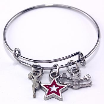 Cheerleading Star Stackable Charm Bracelet [CH-113]